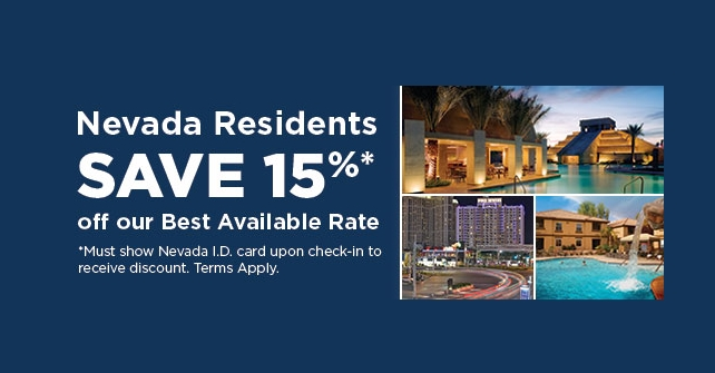 Nevada Residents Save 15%
